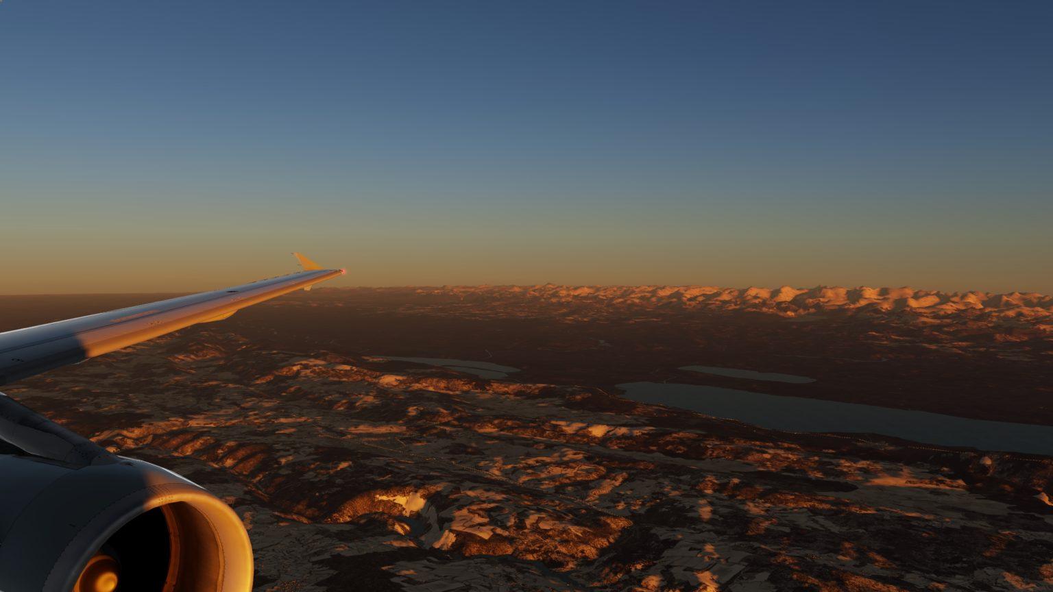 Sonnenuntergang, mit Enhanced Athmospheric