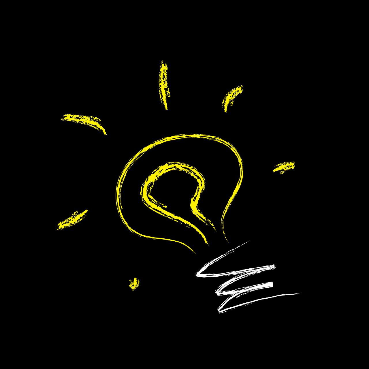 bulb, light, idea